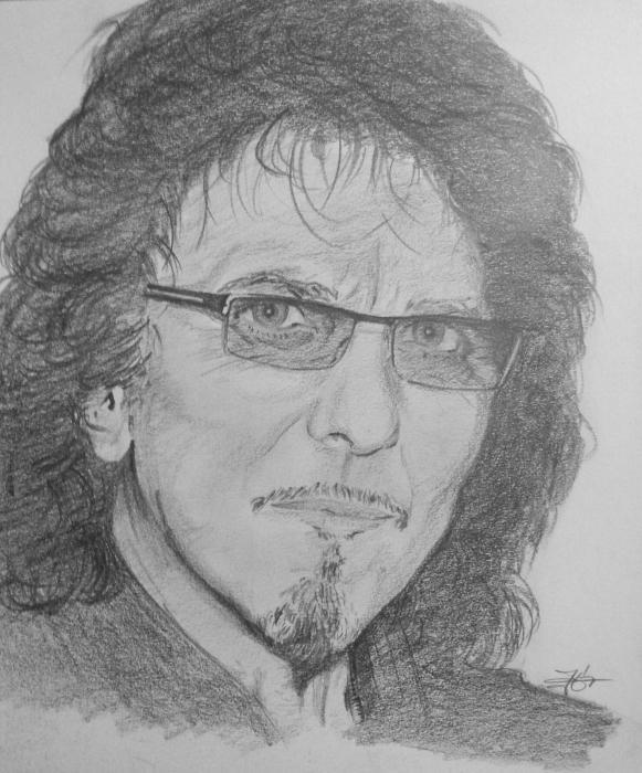 Tony Iommi by metaldrawings